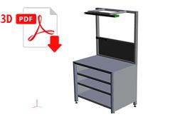 3D Ansicht - Arbeitstisch